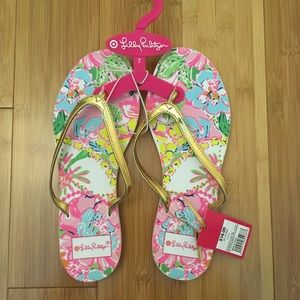 Lilly Pulitzer For Target Flip Flops Multicolored